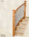 Black Oval Basket Balusters with 9S/DC Rings